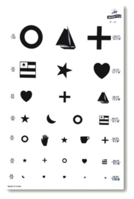 Eye Test Kindergarten Chart