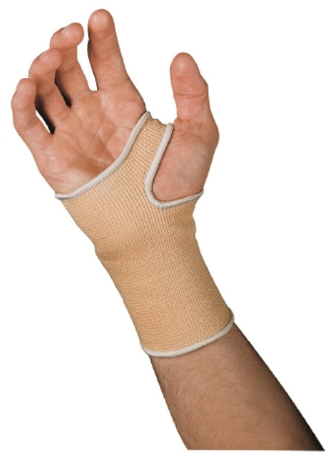 Wrist Support Cotton / Elastic Left or Right Hand Beige Small