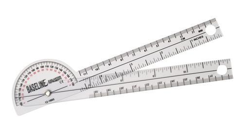 Baseline 180 Degree Clear Plastic Pocket Goniometer