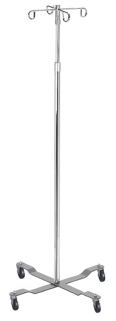 4 Hook Economy Top I.V. Pole with Removable Top