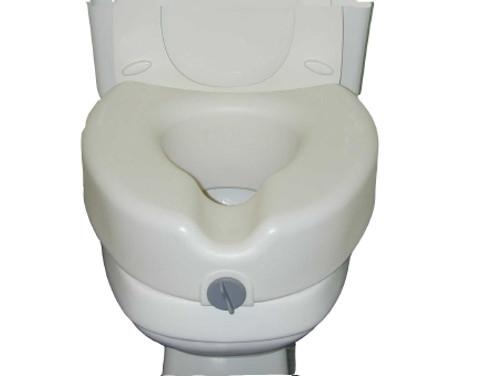 Locking Raised Toilet Seat without Armrests