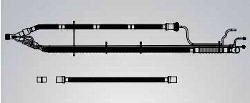 Patient Circuit w/o PEEP, SPU 15mm Single Heated Wire, F&P