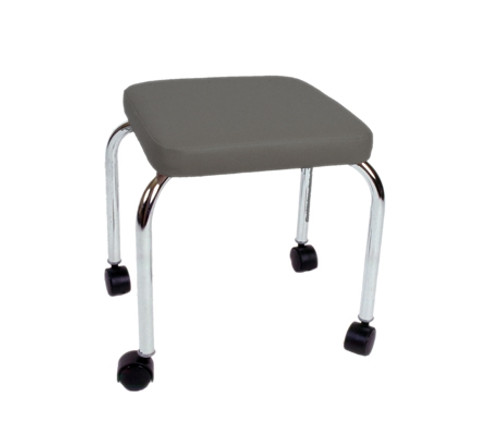 """mobile stool no back square top 18"""" h"""