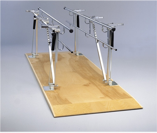 parallel bars wood platform mounted height and width adjustable