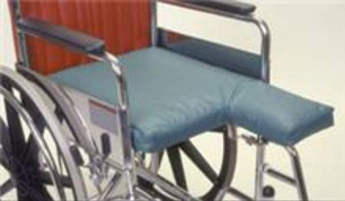 "Double Amputee Seat Cushion, Foam - 18""x 22""x 2"""