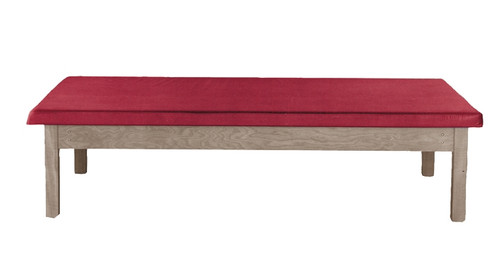 Wooden Platform Table - Fixed Height, Upholstered