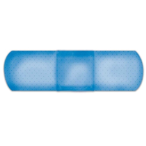 Metal Detectable Adhesive Strip American White Cross First Aid Fabric Rectangle Blue Sterile