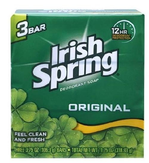 Soap Irish Spring Bar Individually Wrapped Original Scent
