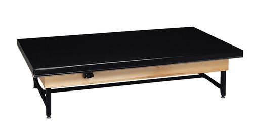 Wooden Platform Table - Fixed Height, Raised-Rim