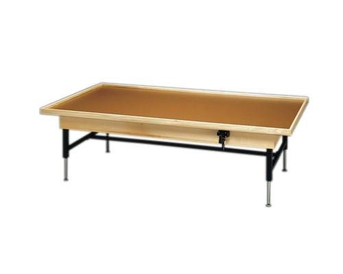 Wooden Platform Table - Manual Hi-Low, Raised-Rim