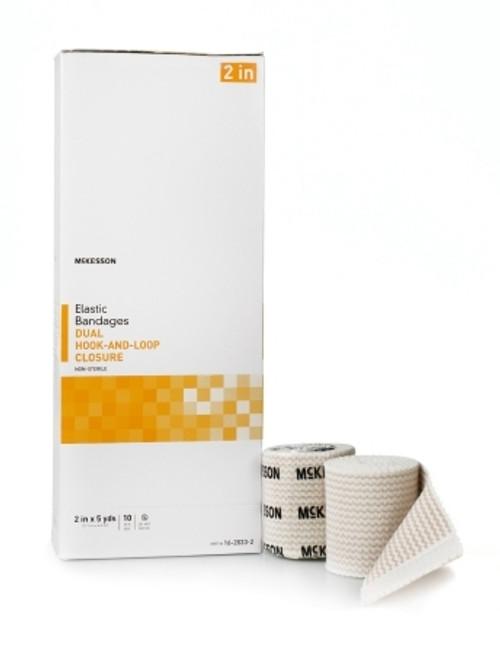 Elastic Bandage McKesson Double Hook and Loop Closure NonSterile