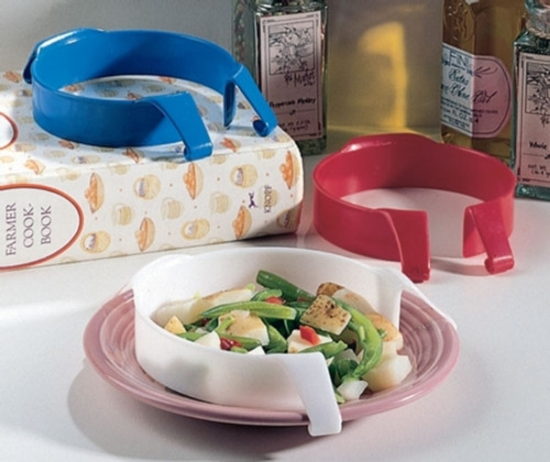 Plate Guard White, Plastic Food Guard