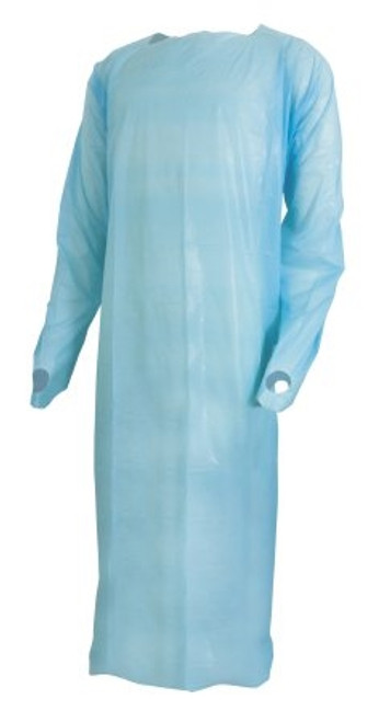 Over-the-Head Protective Procedure Gown McKesson Large Unisex NonSterile Blue