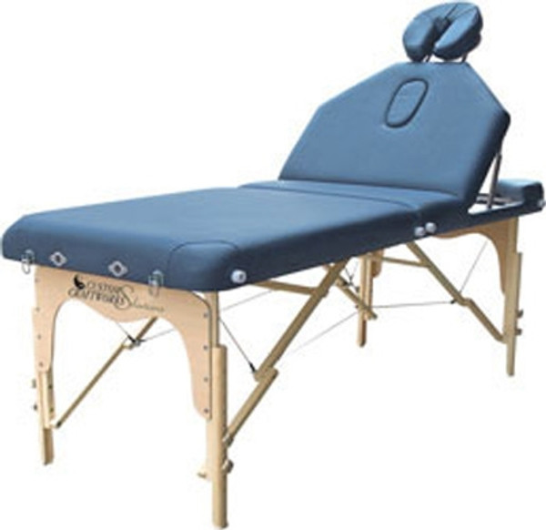 massage table with adjustable back