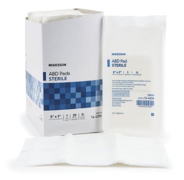 Abdominal Pad McKesson NonWoven Cellulose Moisture Barrier