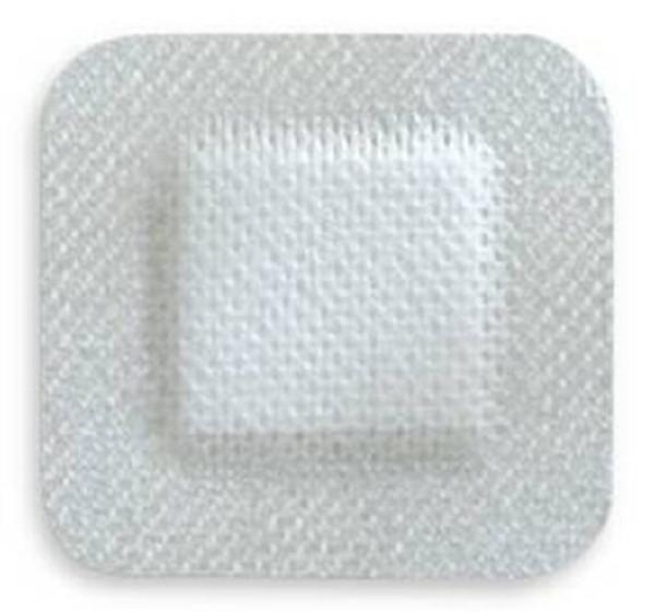 Adhesive Dressing McKesson NonWoven Gauze Square White NonSterile