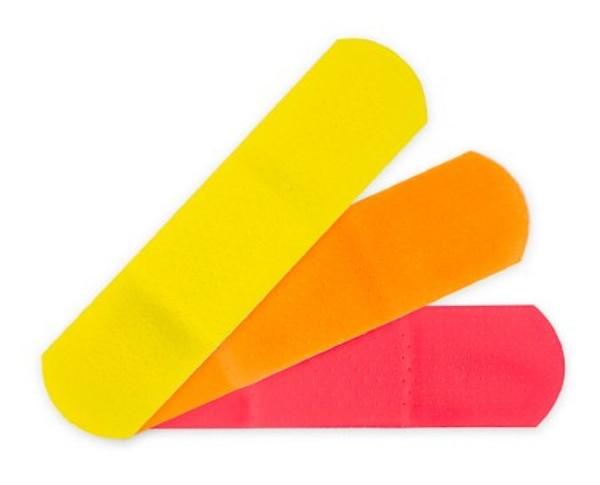 Adhesive Strip McKesson Kids Plastic Rectangle Neon Sterile