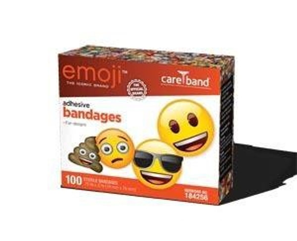 Adhesive Strip emoji Plastic Rectangle Kid Design (Emojis) Sterile