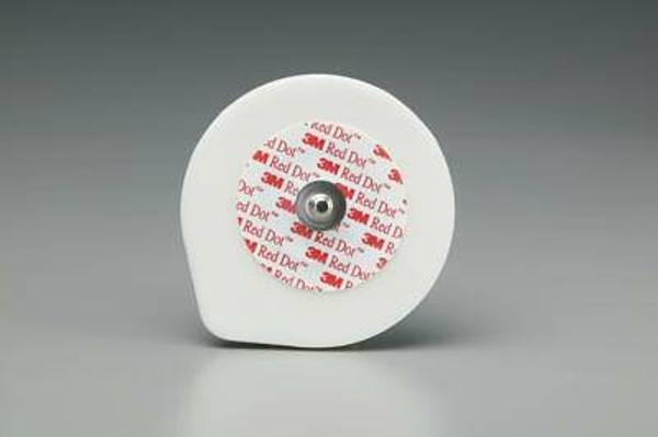 3M ECG Monitoring Electrode Universal Red Dot Foam Backing, NonRadiolucent
