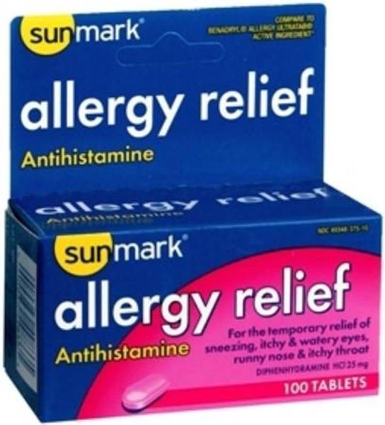 sunmark Allergy Relief Tablets