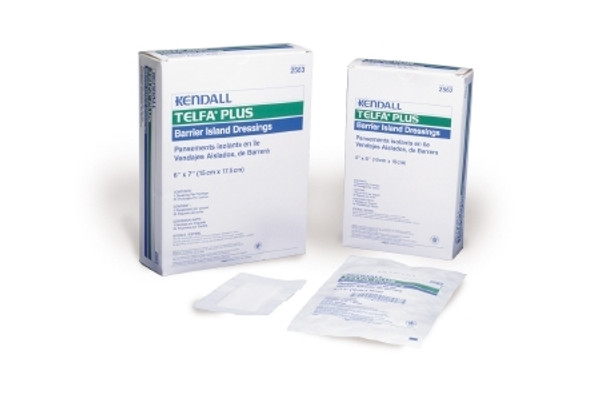 Adhesive Dressing Telfa Plus NonWoven Rectangle White Sterile