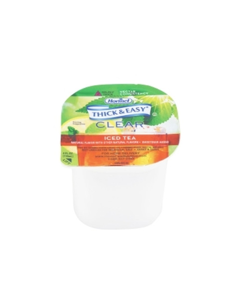 Thickened Beverage Thick & Easy 4 Oz. Portion Cup Iced Tea Flavor Ready to Use Nectar Consistency