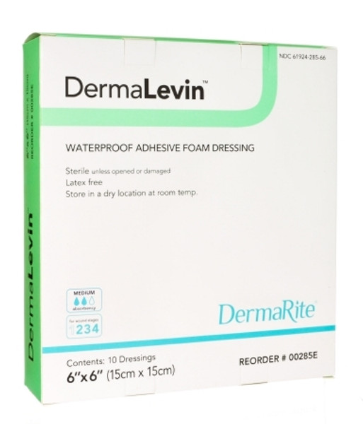 Foam Dressing DermaLevin Adhesive with Border Sterile