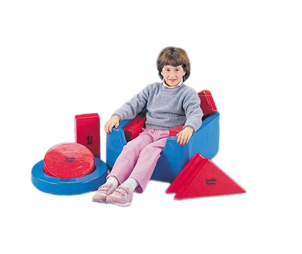 tumble forms square seat with 8 positioning shapes