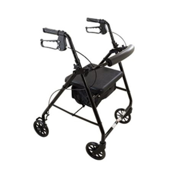 Roscoe E-Series Rollator with Padded Seat