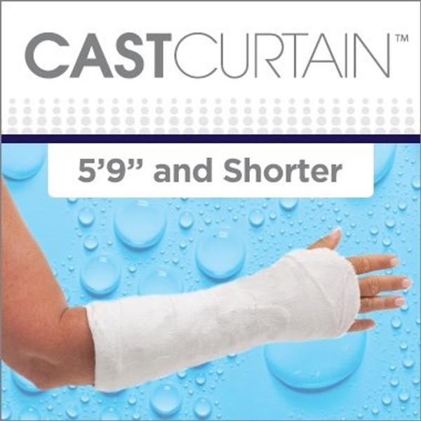 CAST CURTAIN - Short Arm / Right Showerhead