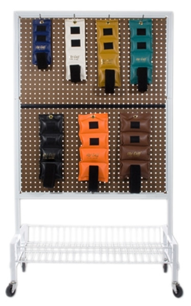 """2-Sided Mobile Weight Storage Cart w/22 6"""" Hooks"""