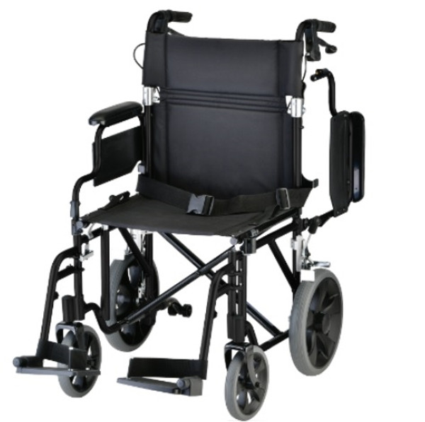 19 inch Transport Chair with 12 Rear Wheels