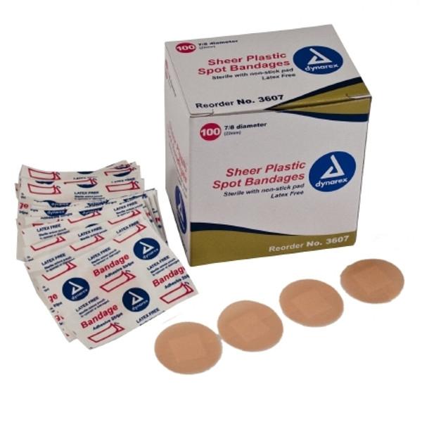 Adhesive Spot Bandage Dynarex Diameter Plastic Round Tan Sterile