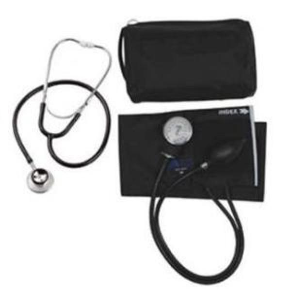 MatchMates Aneroid Sphygmomanometer w/Dual Head Stethoscope