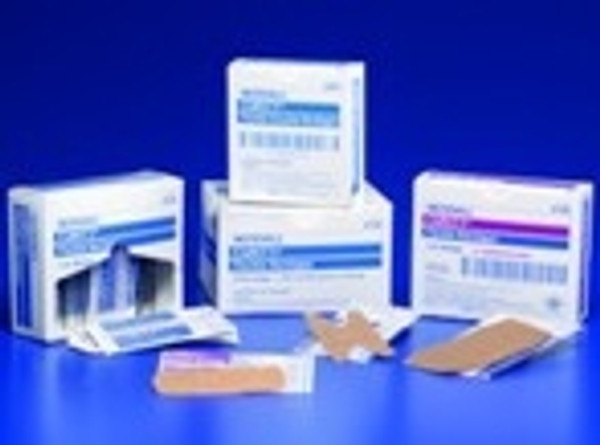 Adhesive Strip Curity Fabric Rectangle Tan Sterile