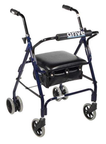 4wheel rollator blue