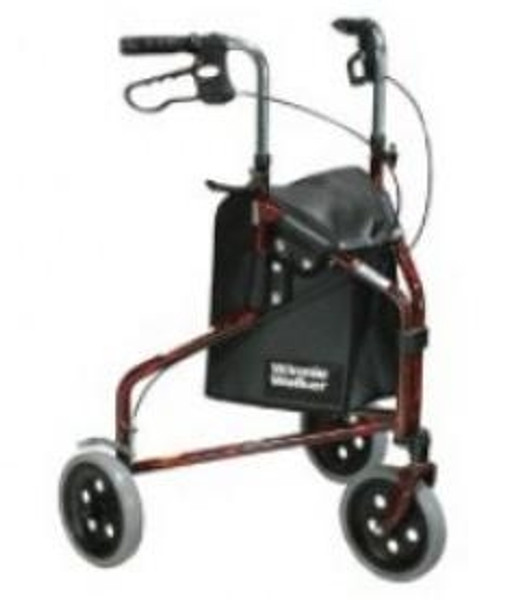 3-wheel Rollator with loop brake