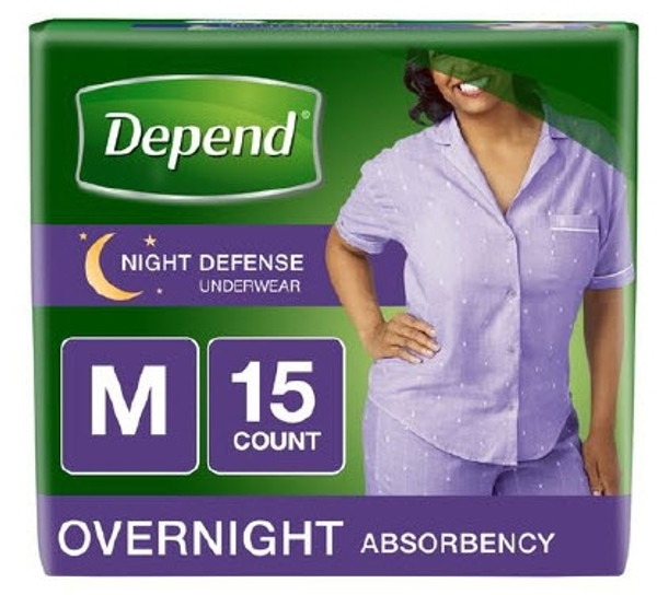 Adult Absorbent Underwear Depend Night Defense Medium Disposable Heavy Absorbency