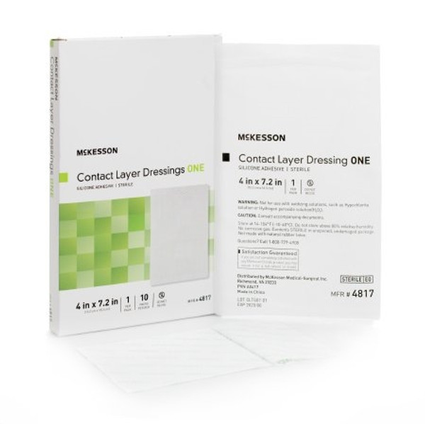 Wound Contact Layer Dressing McKesson Silicone