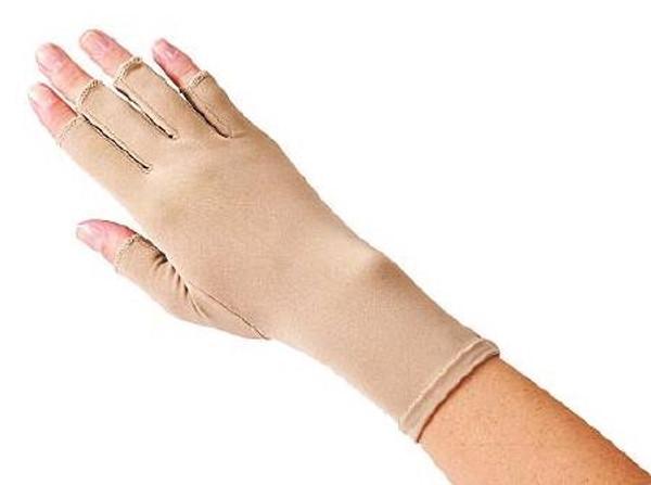 Compression Glove Edema Gloves 2 Open Finger Over-the-Wrist Right Hand Lycra / Spandex