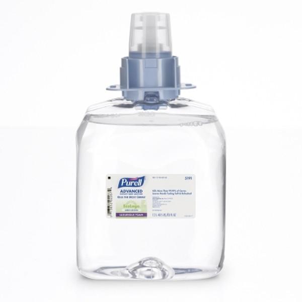 Purell Advanced Hand Sanitizer Green Certified 1200 mL Ethanol Gel Dispenser Refill Bottle