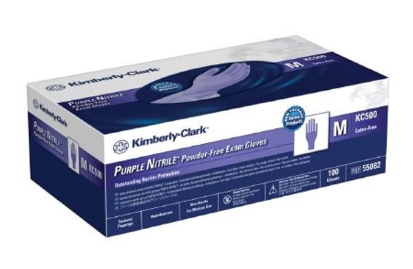 Exam Glove Purple Nitrile NonSterile Purple Powder Free Nitrile Ambidextrous Textured Fingertips Chemo Tested