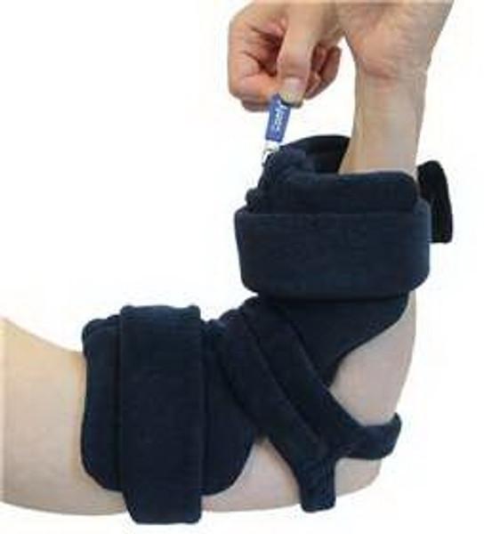 Locking Elbow Comfy Hook and Loop Closure