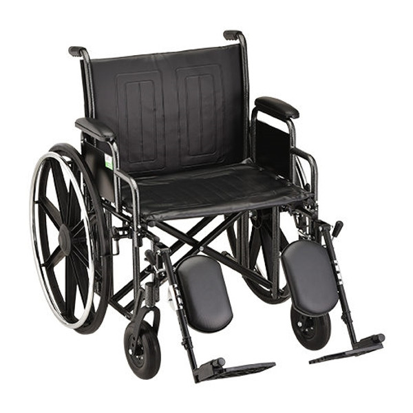 22 Inch Steel Wheelchair Detachable Desk Arms and Elevating Leg Rests