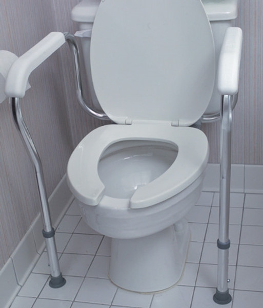 Adjustable Germ-Free Toilet Rails Safety Arms