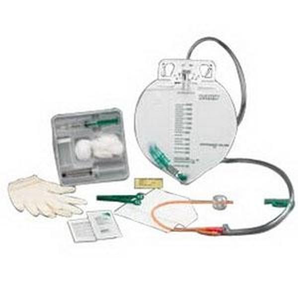 100% Silicone Center-Entry Drainage Bag Foley Catheter Tray 16 Fr 5 cc