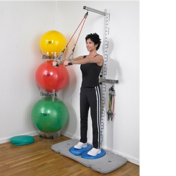 theraband professional wall and platform exercise stations