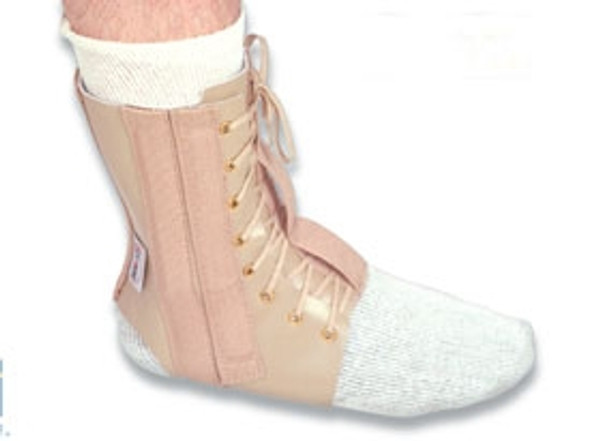 Leather Lace-Up Ankle Immobilizer
