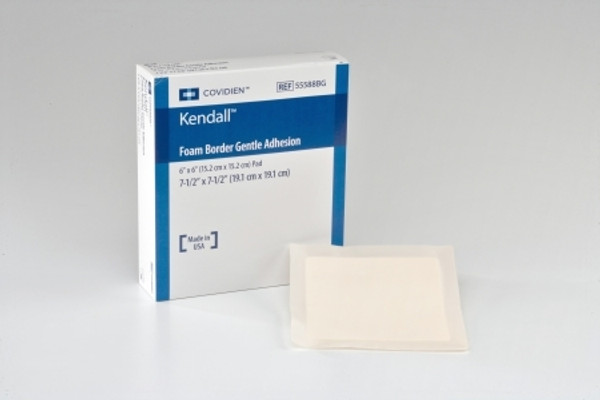 Silicone Foam Dressing Kendall Border Foam Gentle Adhesion Square Silicone Adhesive with Border Sterile
