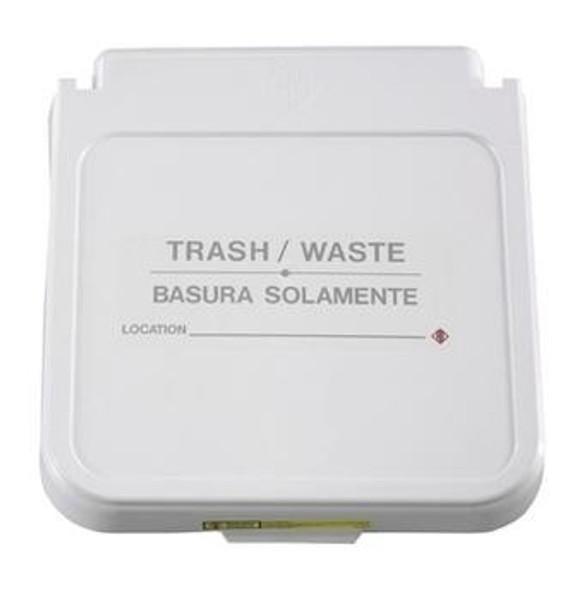 Receptacle Label, Trash/Waste - Tan Lettering, pack of 5